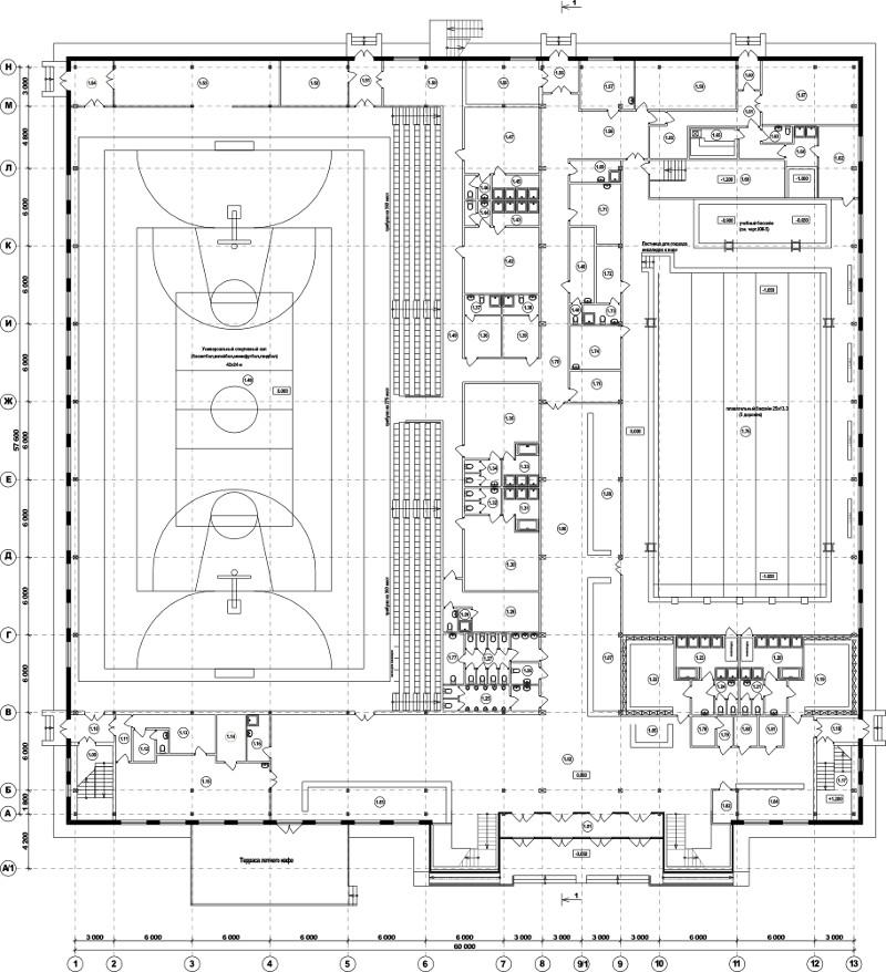 Проект спортивно-оздоровительного комплекса с бассейном